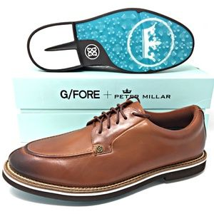 G/FORE x Peter Millar Burnished Brown Golf Shoes